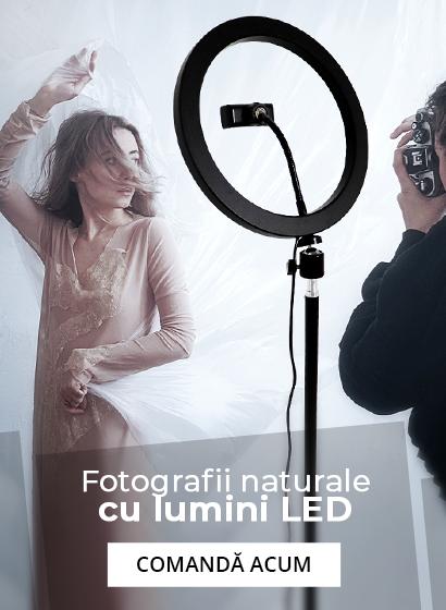 Fotografii naturale cu lumini led