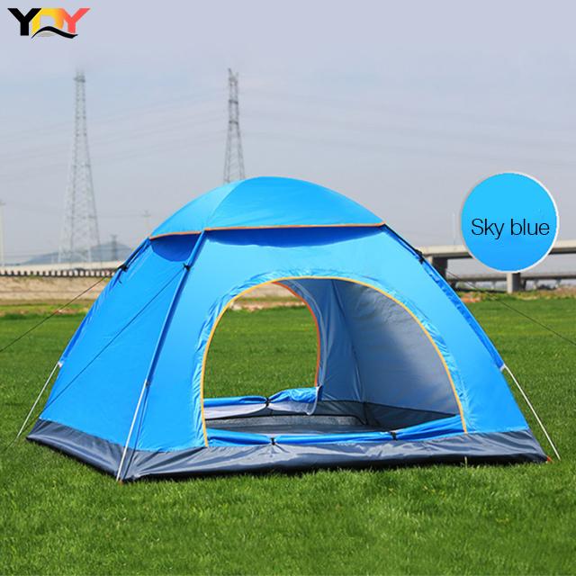 Cort de camping, Klept, Albastru, 3-4 persoane, dimensiuni 125 x 185 x 110 cm 2