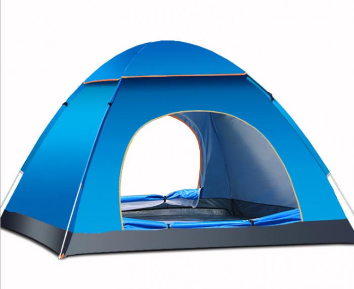 Cort de camping, Klept, Albastru, 3-4 persoane, dimensiuni 125 x 185 x 110 cm 0
