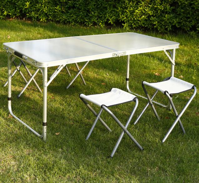 Set masa camping Klept, pliabila, cu 4 scaune, Albastru [9]