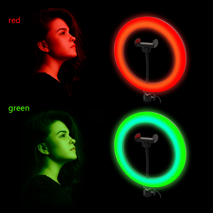 Lampa circulara Ring Light, RGB lumini, 58 x LED SMD 10, 50 W, trepied inclus 5