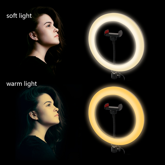 Lampa circulara Ring Light, RGB lumini, 58 x LED SMD 10, 50 W, trepied inclus 8