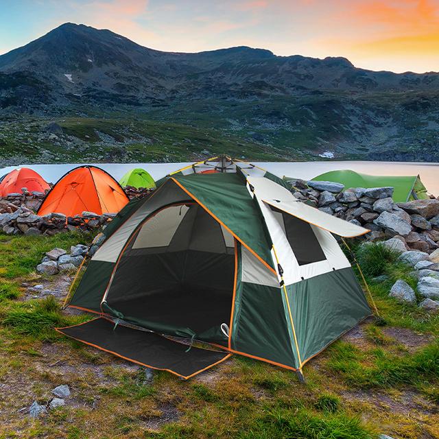 Cort de camping automat Verde, Klept, 2-3 persoane, dimensiuni 190 x 190 x 130 cm 2
