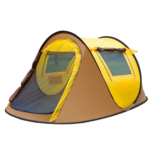 Cort de camping automat, Klept, Galben si Gri, 3 persoane, dimensiuni 245 X 150 X 105 cm - Copie [0]