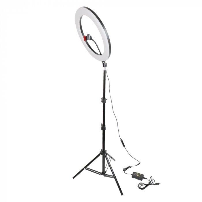 Lampa circulara Ring Light, RGB lumini, 58 x LED SMD 10, 50 W, trepied inclus 0