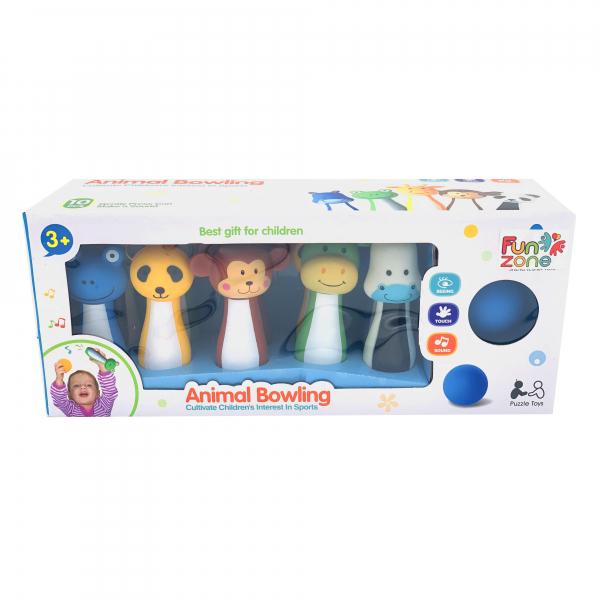Jucarie set Bowling cu figuri animale 5