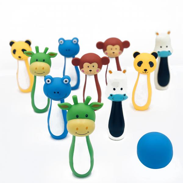 Jucarie set Bowling cu figuri animale 0
