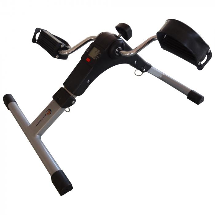 Mini bicicleta pliabila 2in1 fitness de antrenament pentru reabilitare, display LCD si functie de reglare a rezistentei 0