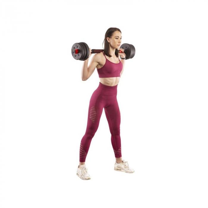 Set Haltera si Gantere, Klept, Reglabile, 40 kg [7]