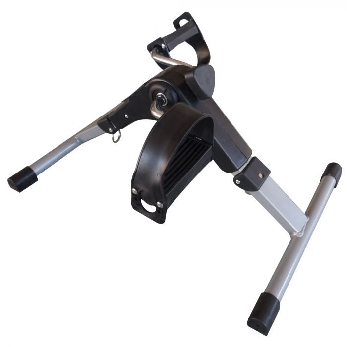 Mini bicicleta pliabila 2in1 fitness de antrenament pentru reabilitare, display LCD si functie de reglare a rezistentei 4