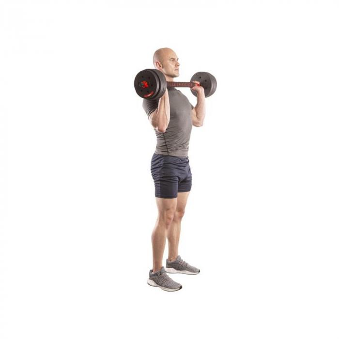 Set Haltera si Gantere, Klept, Reglabile, 30 kg [5]