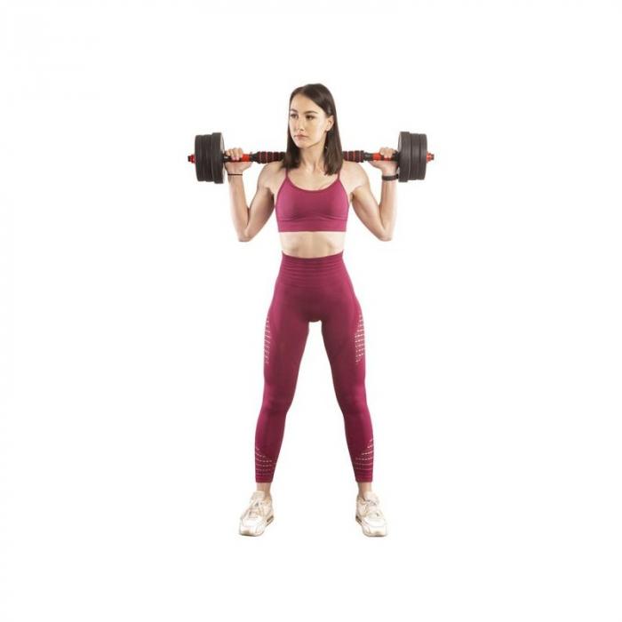 Set Haltera si Gantere Reglabile Klept 50 kg [8]