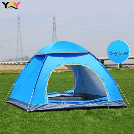 Cort de camping, Klept, Albastru, 3-4 persoane, dimensiuni 125 x 185 x 110 cm2