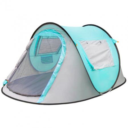 Cort de camping automat, Klept, Albastru si Gri, 3 persoane, dimensiuni 245 X 150 X 105 cm0