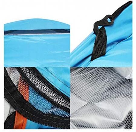 Cort de camping, Klept, albastru si argintiu, 3-4 persoane, dimensiuni 210 x 210 x 130 cm1