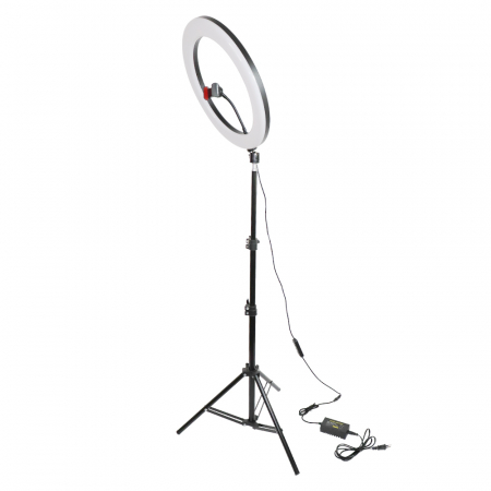 Lampa circulara Ring Light, RGB lumini, 58 x LED SMD 10, 50 W, trepied inclus0