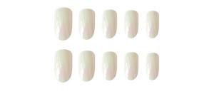 Set 24 unghii false autoadezive tip cu adeziv, tipsuri balerina, cu model glossy Perlat0