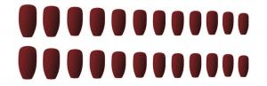 Set 24 unghii false autoadezive tip cu adeziv, tipsuri balerina, cu model Maro mat1