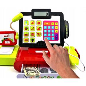 Jucarie Supermarket Casa de marcat cu ecran LCD, MY CASH REGISTER, cu sunete, lumini, cantar, POS si scanner pentru alimente0