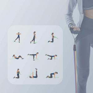 Set 11 bucati extensor fitness cu corzi elastice latex, manere, ancora usa si curele pentru glezna3