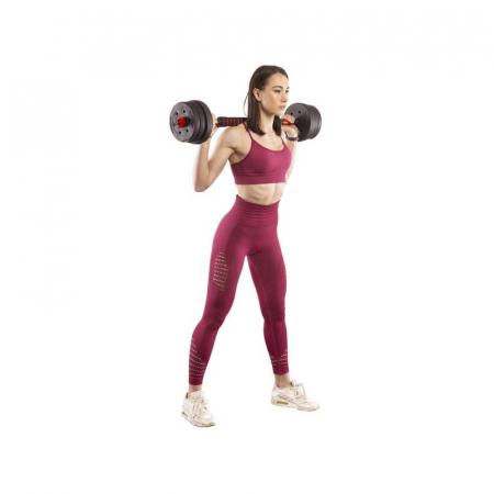 Set Haltera si Gantere, Klept, Reglabile, 30 kg [7]