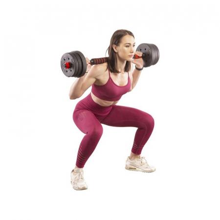 Set Haltera si Gantere Reglabile Klept 50 kg [9]