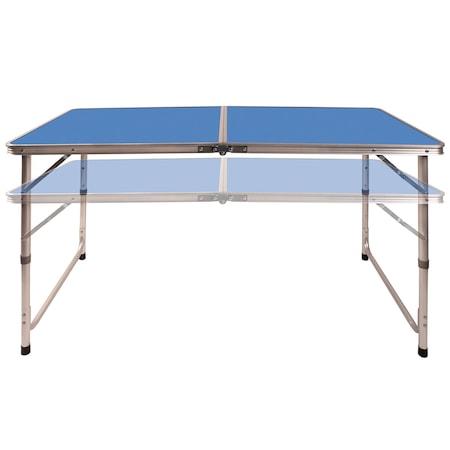 Set masa camping Klept, pliabila, cu 4 scaune, Albastru [3]