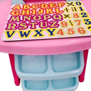 Tabla de Scris pentru Copii cu Creta, Culori, Litere si Cifre Magnetice3