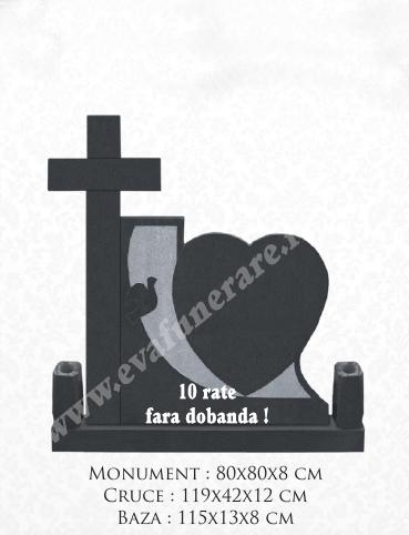 Cruce granit Inima 13 0