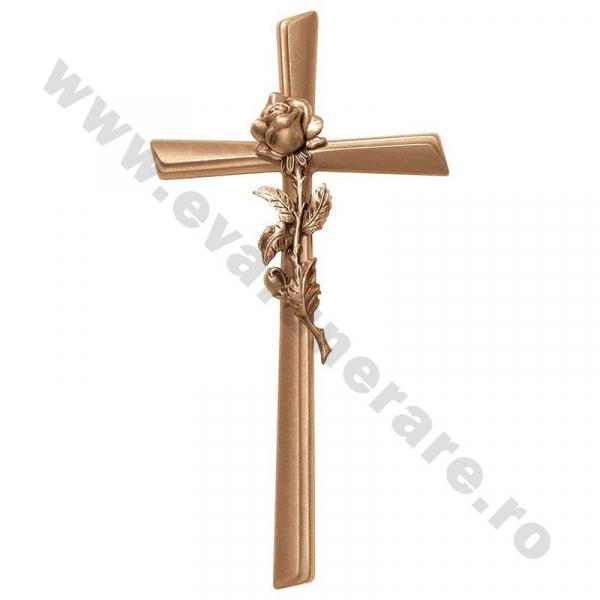 Crucifix cu trandafir bronz 2119 0