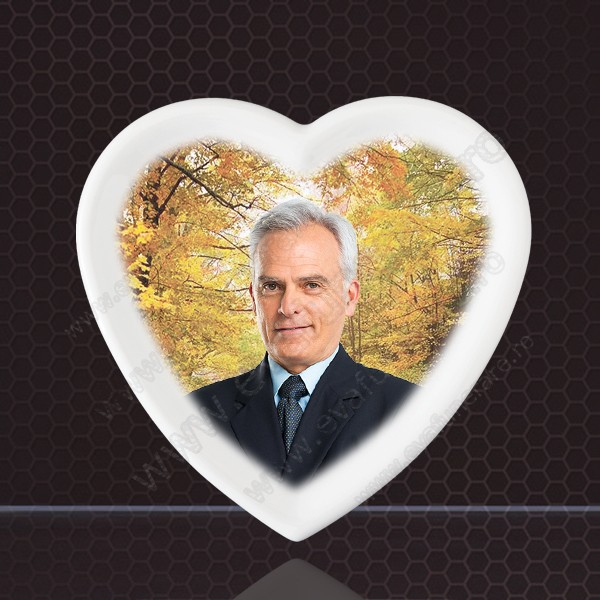 Fotoceramica Inima cu bordura 0