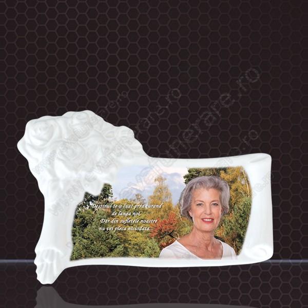 Fotoceramica papairus trandafir 0