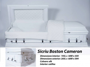 Sicriu Boston Alb0