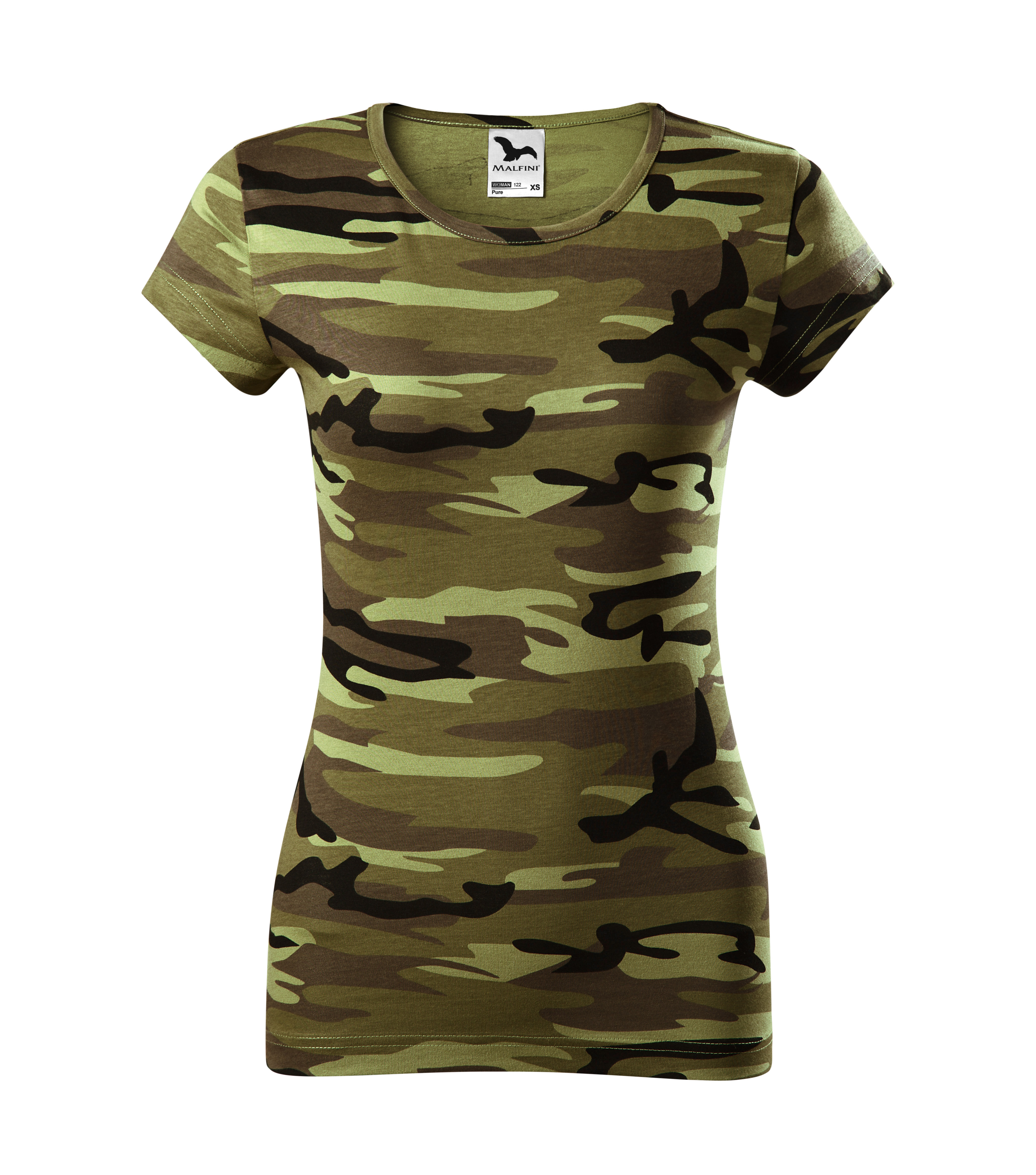 tricou dama camuflaj verde [0]