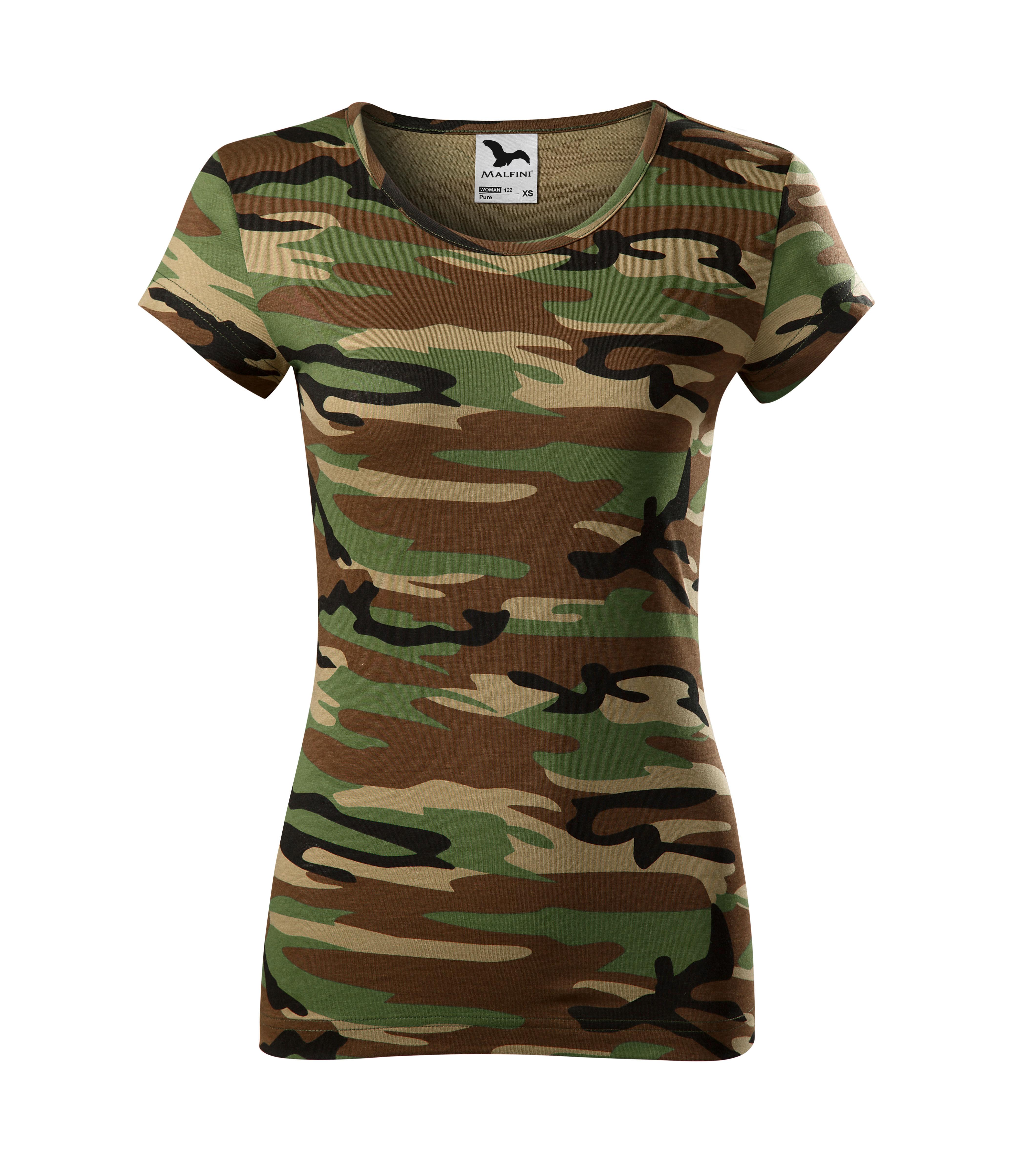 tricou dama camuflaj maro [0]