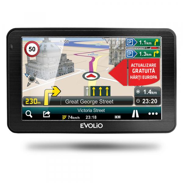 GPS EVOLIO PRECISO + HARTA EUROPEI RESIGILAT
