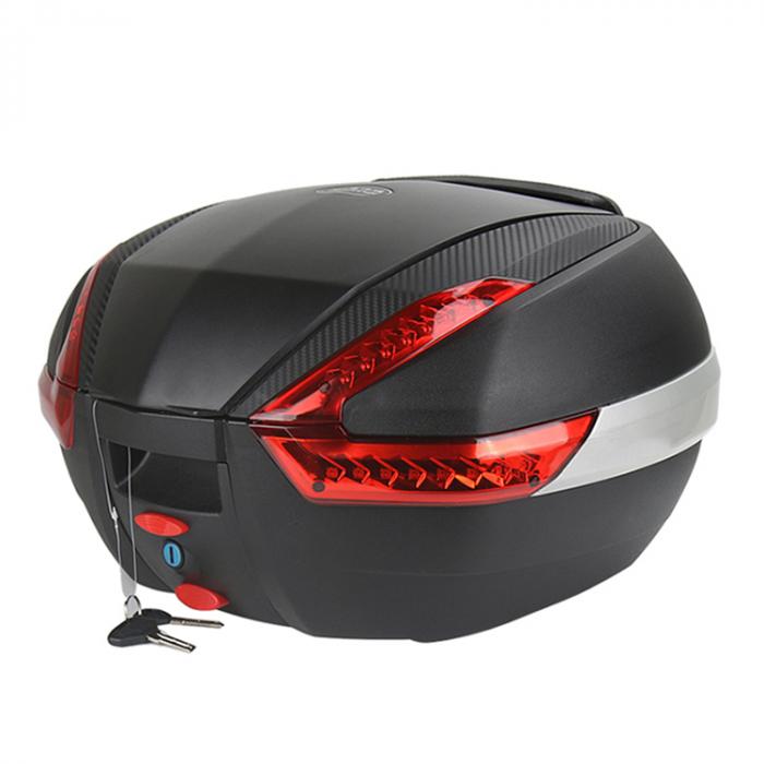 Cutie portbagaj JDR, motocicleta, 35L, led [0]