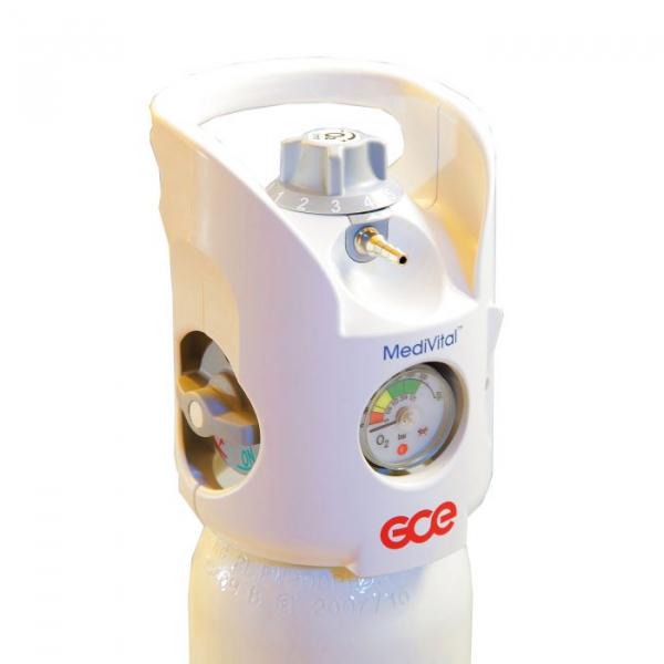 Tub / Butelie oxigen medical, capacitate 10 litri, cu regulator - MediVital - GCE 1