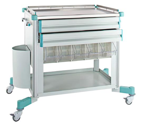 Carucior mobil pentru transport aparatura medicala si medicamente la patul pacientului 0
