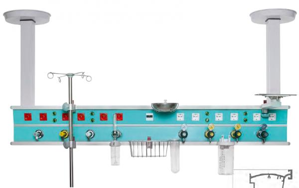 Consola gaze medicale cu prindere in tavan - 1 post [0]