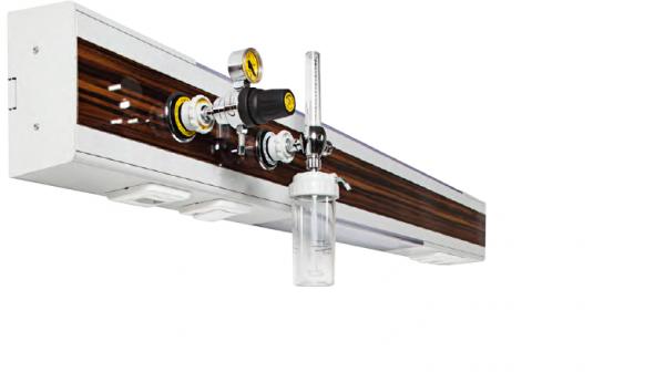 Rampa gaze medicale (oxigen/aer/vacuum) - 1 post 0