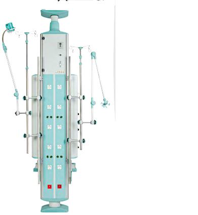 Rampa verticala gaze medicale pentru terapie intensiva-model Premium 1