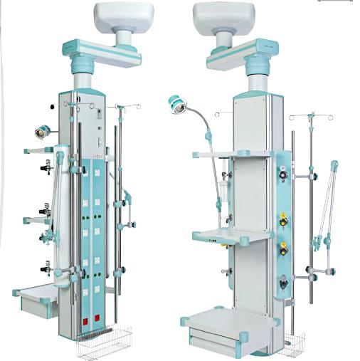 Rampa verticala gaze medicale suspendata cu prindere in tavan - 1 post 0