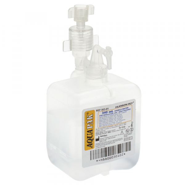Barbotor / Umidificator preumplut cu apa sterila - AquaPak 340 ml - Hudson RCI 0