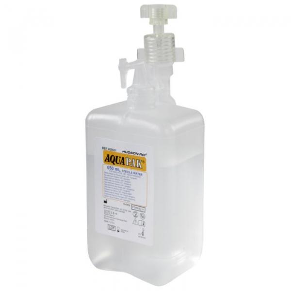 Barbotor / Umidificator preumplut cu apa sterila - AquaPak 650 ml - Hudson RCI 0