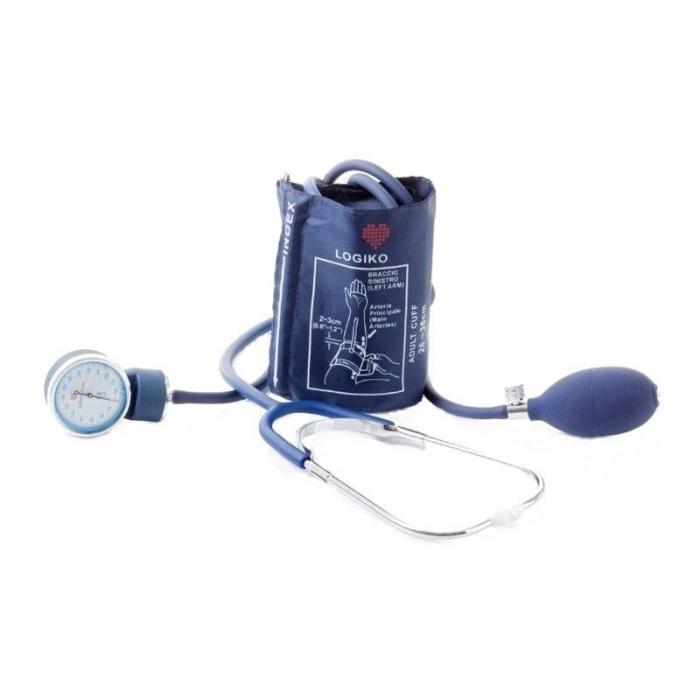 Tensiometru mecanic aneroid cu manometru si stetoscop - DM333 - LOGIKO [0]