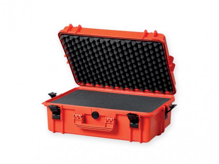 Geanta profesionala de transport - portocalie - cu spuma - dimensiune medie 0