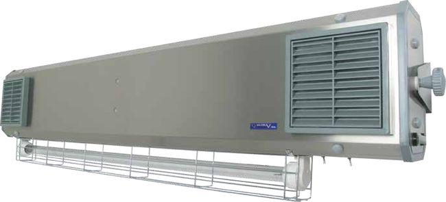Lampa UV bactericida, cu montare pe perete, model hibrid - NBVE 110/55 NL [1]