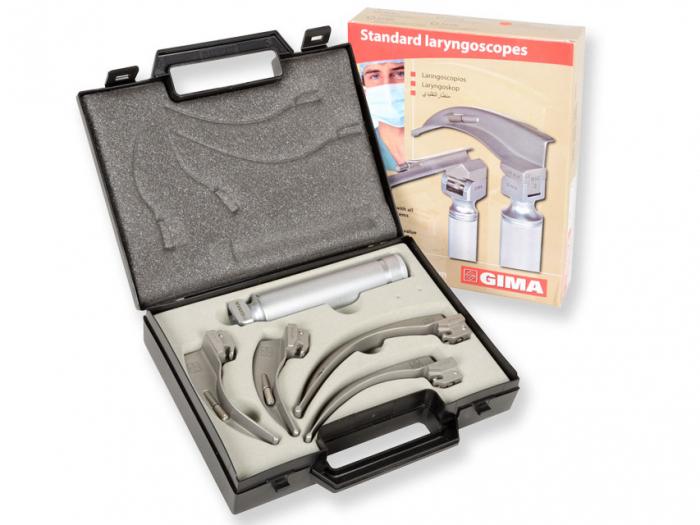 Set laringoscop GIMA cu 4 lame 1-2-3-4 McIntosh - adult [0]