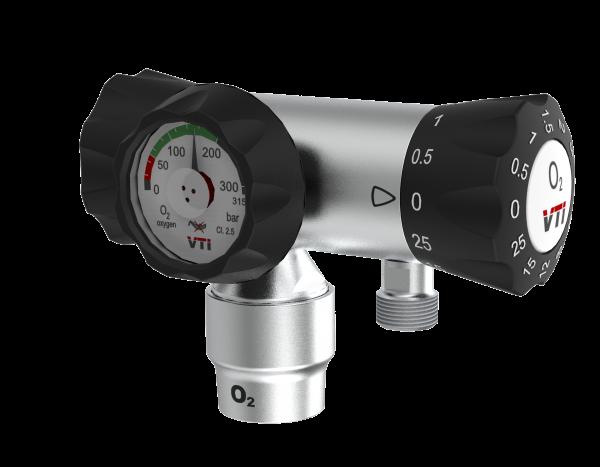 Regulator de presiune oxigen medicinal cu manometru si cupla DIN - VTI S66 0